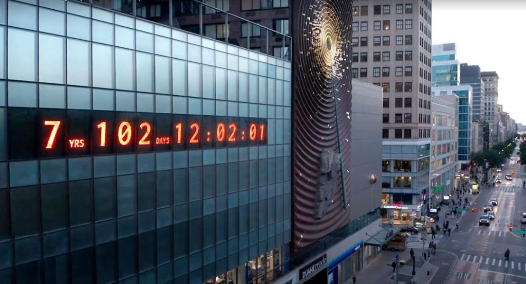 Climate clock at NewYork