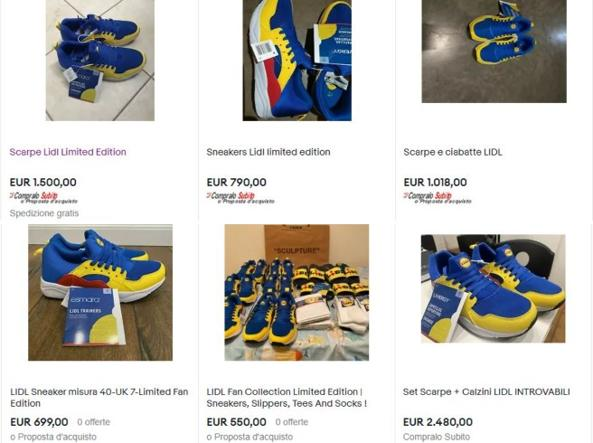 Lidl fan collection Italia