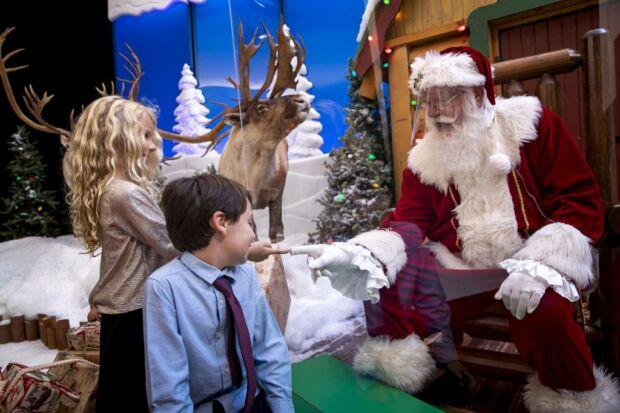 Babbo Natale nei centri commerciali