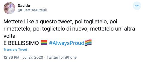 Tweet su twitter