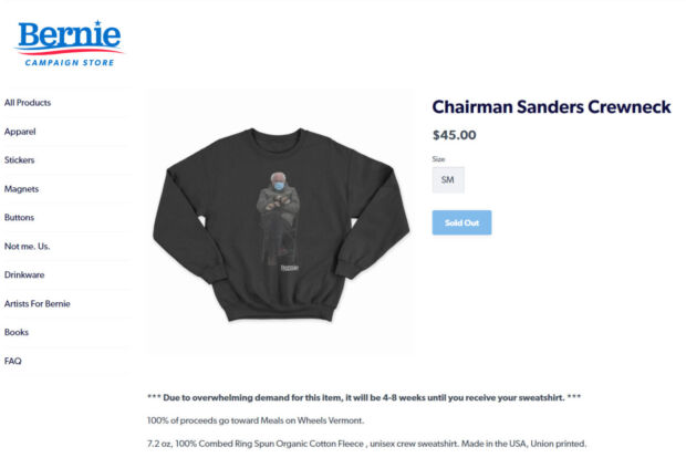 Bernie Sanders passa da meme a promotore di azioni benefiche