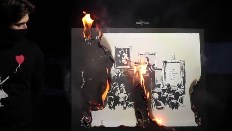 NFT-bruciata-opera-di-Banksy
