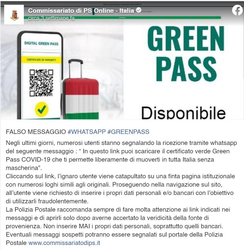 truffe-greenpass-whatsapp