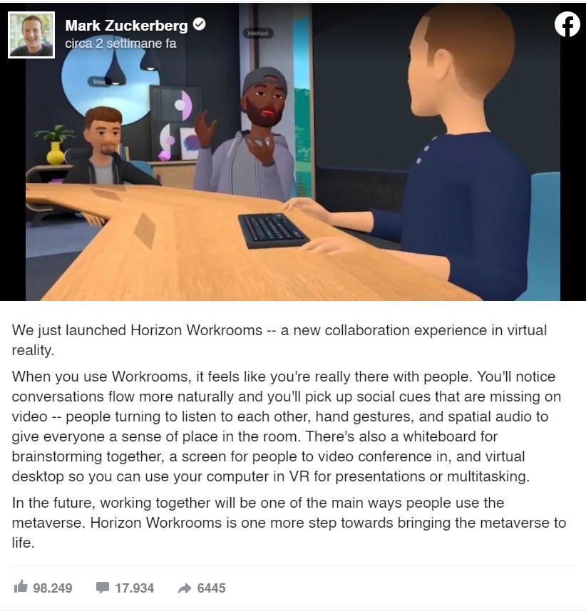 horizon-facebook-lavoro-da-remoto